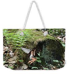 Floating Fairy In Forest Weekender Tote Bag
