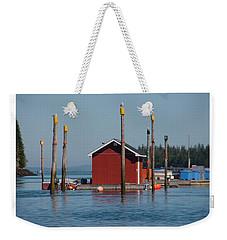 Floating Fish Shack Bay Of Fundy Nb Weekender Tote Bag
