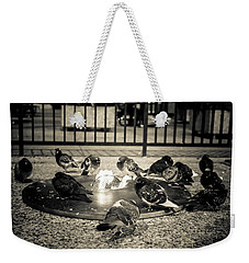 Flockin' Around The Fire Weekender Tote Bag by Melinda Ledsome