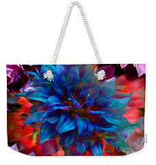 Floral Abstract Color Explosion Weekender Tote Bag by Stuart Turnbull