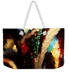 Weekender Tote Bag featuring the photograph Floral Abstract I by Sharon Elliott
