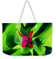 Weekender Tote Bag featuring the digital art Floral Abstract Play by David Lane