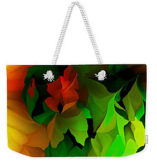 Weekender Tote Bag featuring the digital art Floral Abstraction 090814 by David Lane