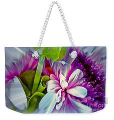 Floral Array Weekender Tote Bag by Linda Bianic