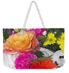Floral Bouquet Weekender Tote Bag