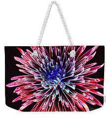 Weekender Tote Bag featuring the photograph Floral Color Burst by Sue Melvin