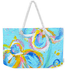 Abstract Flowers Silhouette No 16 Weekender Tote Bag