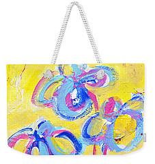 Abstract Flowers Silhouette No 13 Weekender Tote Bag