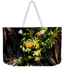 Weekender Tote Bag featuring the digital art Floral Expression 020215 by David Lane