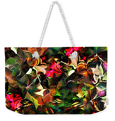 Weekender Tote Bag featuring the digital art Floral Expression 121914 by David Lane