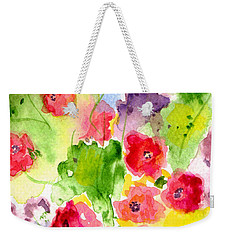 Floral Fantasy Weekender Tote Bag by Paula Ayers