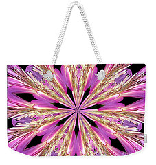 Weekender Tote Bag featuring the photograph Floral Kaleidoscope  Waterlily by Rose Santuci-Sofranko