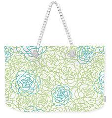 Floral Lines Weekender Tote Bag