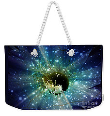 Weekender Tote Bag featuring the mixed media Floral Stratosphere by Leanne Seymour