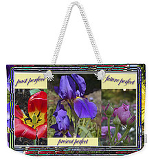 Weekender Tote Bag featuring the photograph Floral Tenses by Larry Bishop