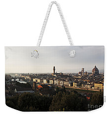 Weekender Tote Bag featuring the photograph Florence Form The Piazza Michalengelo by Belinda Greb
