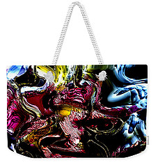 Weekender Tote Bag featuring the digital art Flores' Darker More Uncomfortable Twin by Richard Thomas