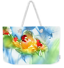 Weekender Tote Bag featuring the photograph Flores En La Ventana by Alfonso Garcia