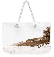 Florida Beach Sepia Print Weekender Tote Bag