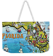 Florida Cartoon Map Weekender Tote Bag