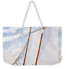 Florida Catboat At Sea Weekender Tote Bag