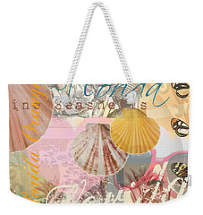 Florida Seashells Collage Weekender Tote Bag