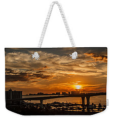 Weekender Tote Bag featuring the photograph Florida Sunset by Jane Luxton