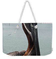Weekender Tote Bag featuring the photograph Florida's Finest Bird by David Nicholls