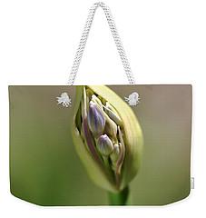 Flower-agapanthus-bud Weekender Tote Bag