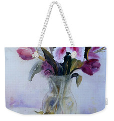 Flower Bouquet With Teapot And Fruit Weekender Tote Bag