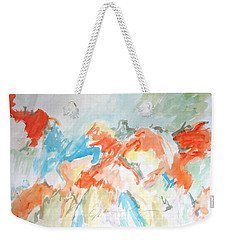 Flower Bursts Weekender Tote Bag by Esther Newman-Cohen
