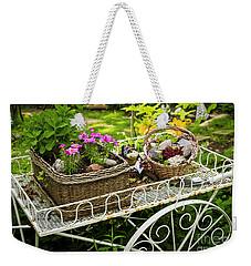 Flower Cart In Garden Weekender Tote Bag by Elena Elisseeva