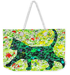 Flower Cat Weekender Tote Bag