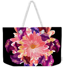 Flower Circle Weekender Tote Bag