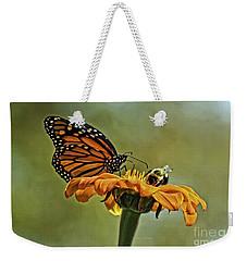Flower Duet Weekender Tote Bag