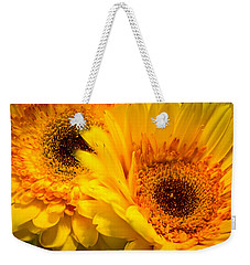 Weekender Tote Bag featuring the photograph Flower Eyes by Steven Santamour
