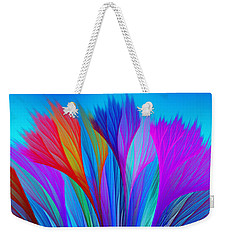 Flower Fantasy In Blue Weekender Tote Bag by Klara Acel