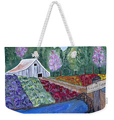 Flower Farm -poppies Daisies Lavender Whimsical Painting Weekender Tote Bag