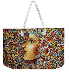 Flower Goddess. Weekender Tote Bag by Natalie Holland