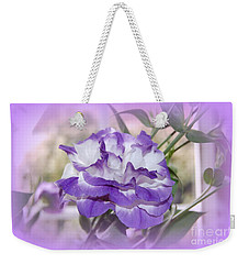 Flower In A Haze Weekender Tote Bag by Linda Prewer