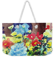 Weekender Tote Bag featuring the painting Flower In The Dell by Kathy Braud