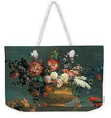 Flower Piece With Parrot Weekender Tote Bag