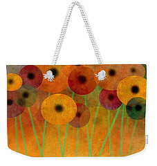 Weekender Tote Bag featuring the painting Flower Power Seven Abstract Art  by Ann Powell