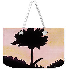Weekender Tote Bag featuring the drawing Flower - Sunrise by D Hackett