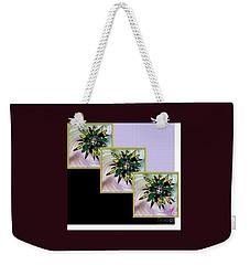 Weekender Tote Bag featuring the digital art Flower Time by Ann Calvo