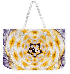 Weekender Tote Bag featuring the drawing Flowering Emotion by Derek Gedney
