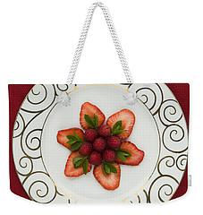Flowering Fruits Weekender Tote Bag by Anne Gilbert