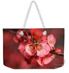 Flowering Quince Weekender Tote Bag