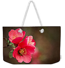 Flowering Quince Weekender Tote Bag by Lana Trussell