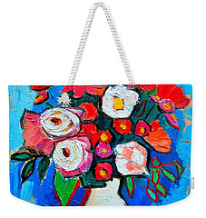 Flowers And Colors Weekender Tote Bag by Ana Maria Edulescu
